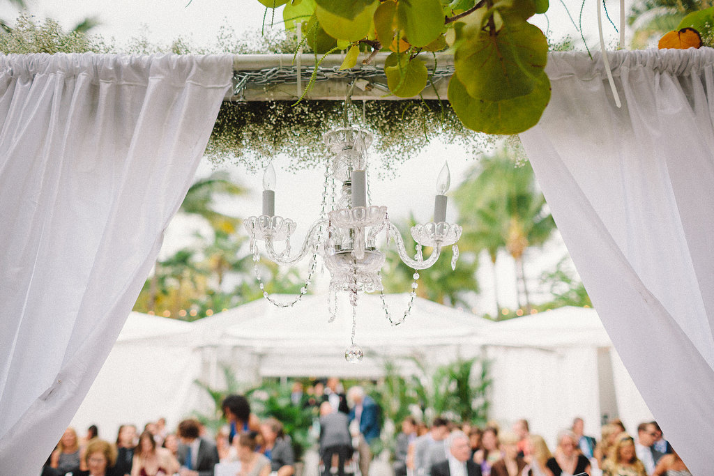 Wedding Chandelier and Foliage