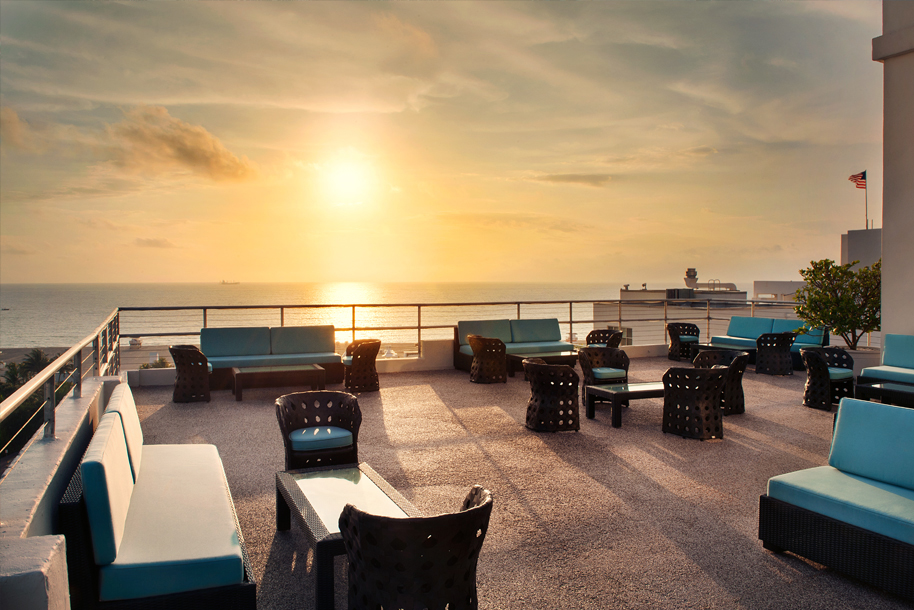 Penthouse Patio in the Sunset